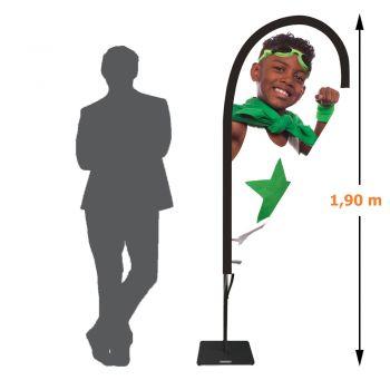 Drapeau voile goutte - 1,90 mètre