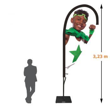 Drapeau voile goutte - 3,23 mètres