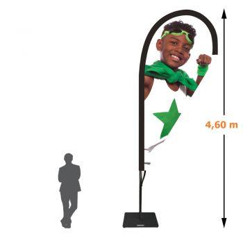 Drapeau voile goutte - 4,60 mètres